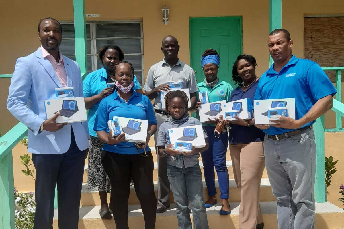 Tablets presented to District Education Officer